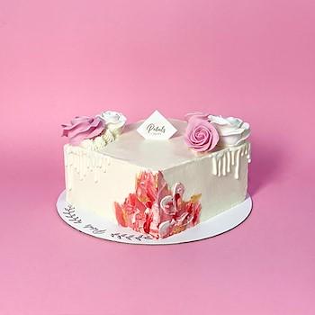 Pink Square Cake