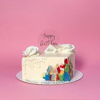 Colored Square Cake