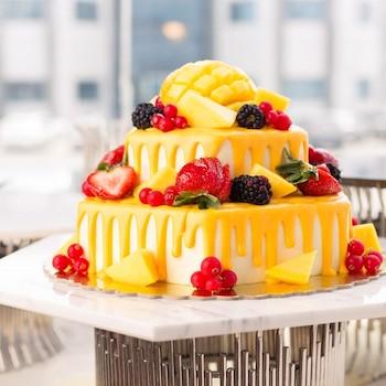 Mango Ice-Cream Cake