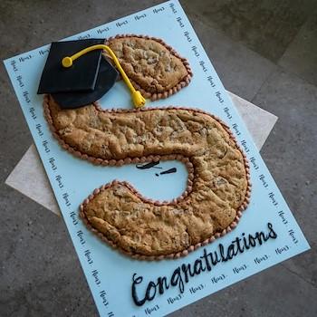 Graduation Letter Cookie Cake