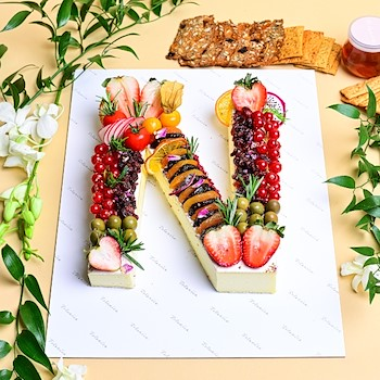 Brie Letter Cake
