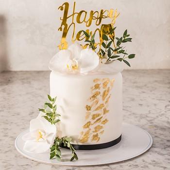 New Years Cake (White)