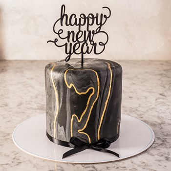 New Years Cake (Black)