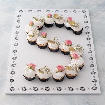Letters Cupcake Board