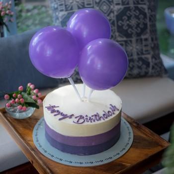 Balloons Cake Purple
