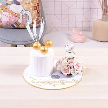 Gold Engagement Bouquet