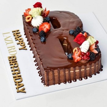 Chocoberry Cake Letter