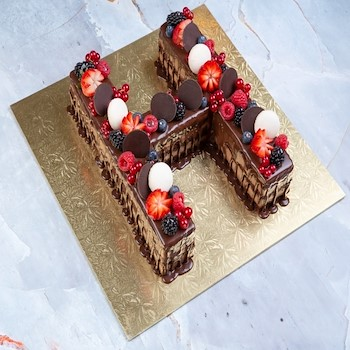 Chocolate Letters Cake