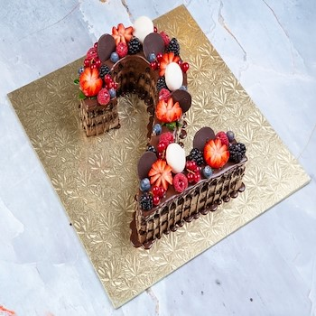 Chocolate Number Cake