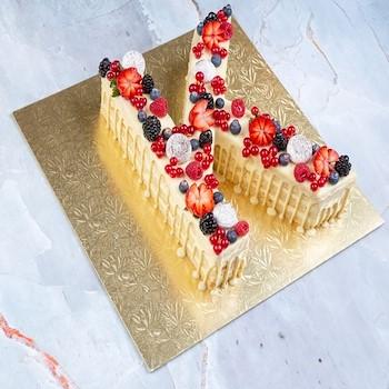 Vanilla Letter Cake