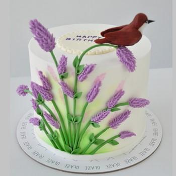 Lavender Bird Cake