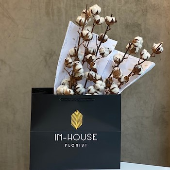 Natural Cotton Bouquet