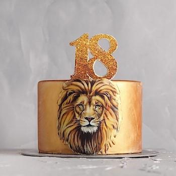 Gold Lion Cake
