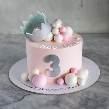 Silver Crown Cake Pink