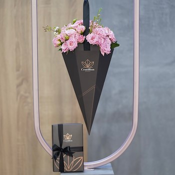 Pink Bouquet & Chocolate