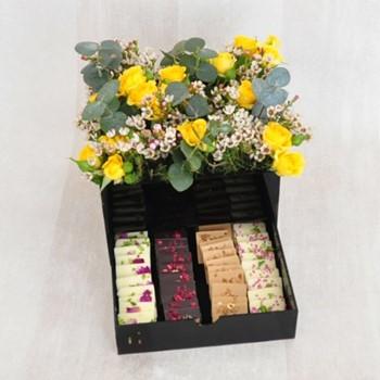Yellow Chocolates Box