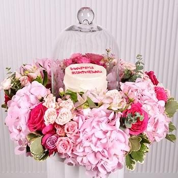 15% OFF - Flowers & Cake