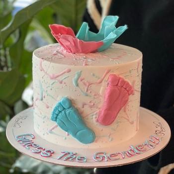 Gender Foots Cake