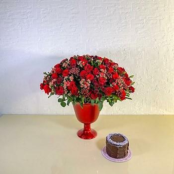 Red Rose & Cake