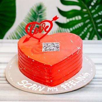 Barcode Heart Cake