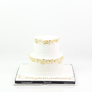Two Layered Congratulation Cake l