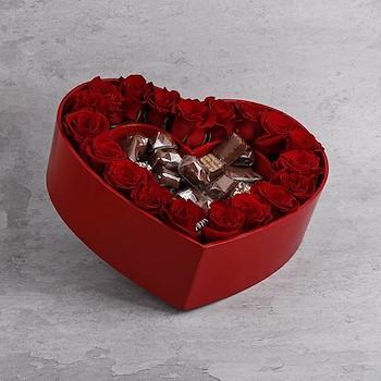 Heart Red Roses (1 Kg)