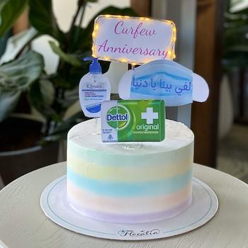 Curfew Rainbow Cake