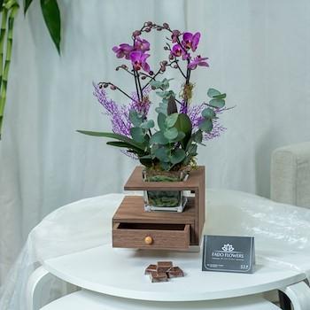 Orchid Purple Wood 1