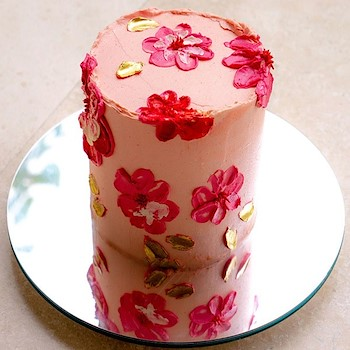 Pink Mother's Day Cake