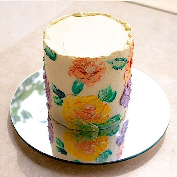 White Mother's Day Cake
