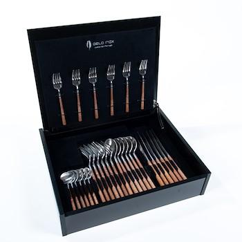 Silver Wood Cutlery