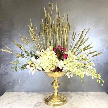 Inflower Gold Vase 9