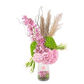 Pink & Green Vase