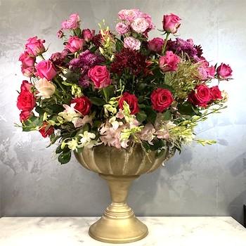 Inflower Gold Vase 10