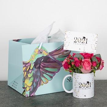 Graduation Flowers Mug