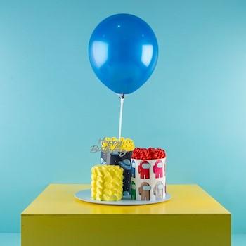 Blue Balloon In It