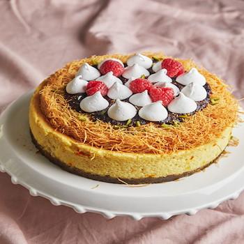 Saffron Kunafa Cheese Cake