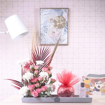 Concrete Tray Bouquet