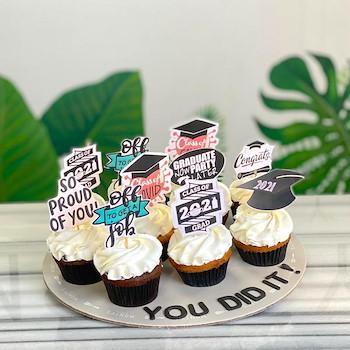 Graduation Corona Cupcake