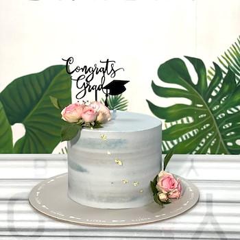 Greyish Grad Cake