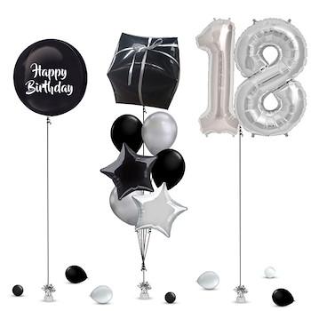 Black Balloon Decoration