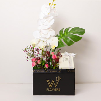 White Orchid Mix Flowers