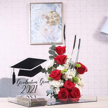 Red Graduation Bouquet