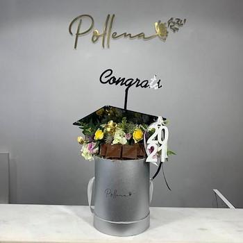 Graduation Floral Box Chocolate