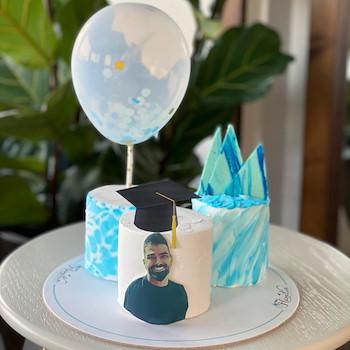 Blue Graduate Cake