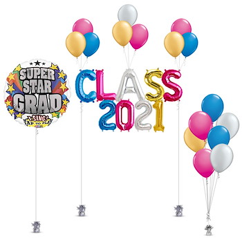 Colorful Class Balloon Decoration