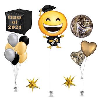 Graduation Emoji Smiley Balloon