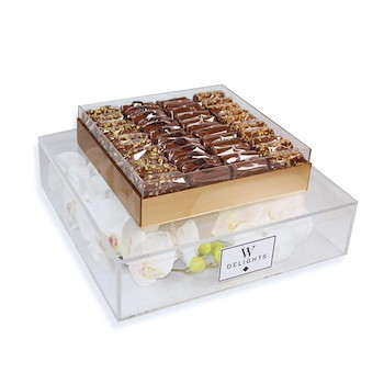 Flutes Chocolate Small Tray