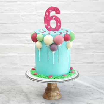Balloons Number Cake