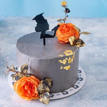 Gray Graduations Cake